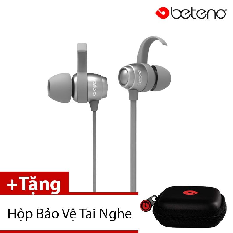 Tai Nghe Nhét Tai Beteno GX-35 (Xám) + Tặng 1 Hộp Bảo Vệ Tai Nghe