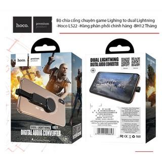 [CHÍNH HÃNG] Bộ chia cổng chuyên game Lighing to dual Lightning -Hoco LS22 -Hàng phân phối chính hãng -BH12 Tháng