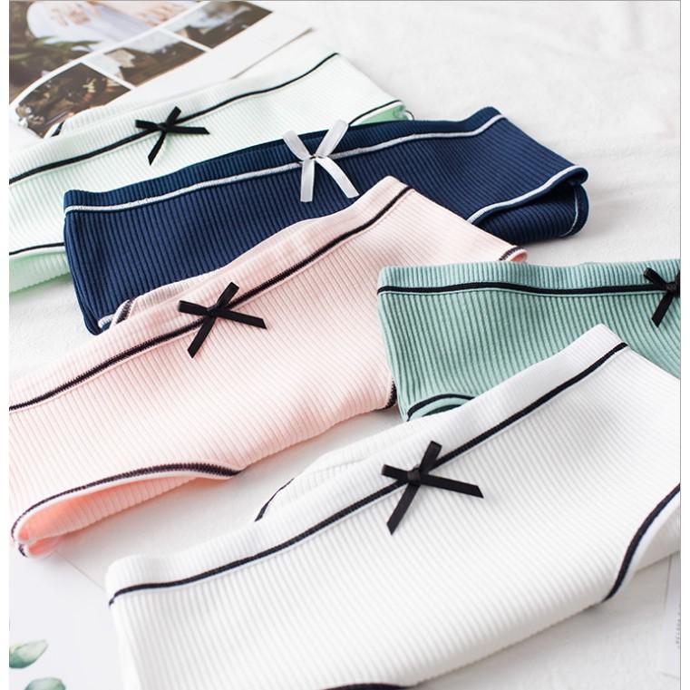 [Kèm quà tặng, giảm 10k]Set 10 quần lót len tăm cao cấp siêu co giãn, siêu thấm hút, freesize dưới 55kg