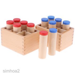 12pcs Sound Cylinder Box Set -Montessori Sensory Wooden Toy Kids Educational