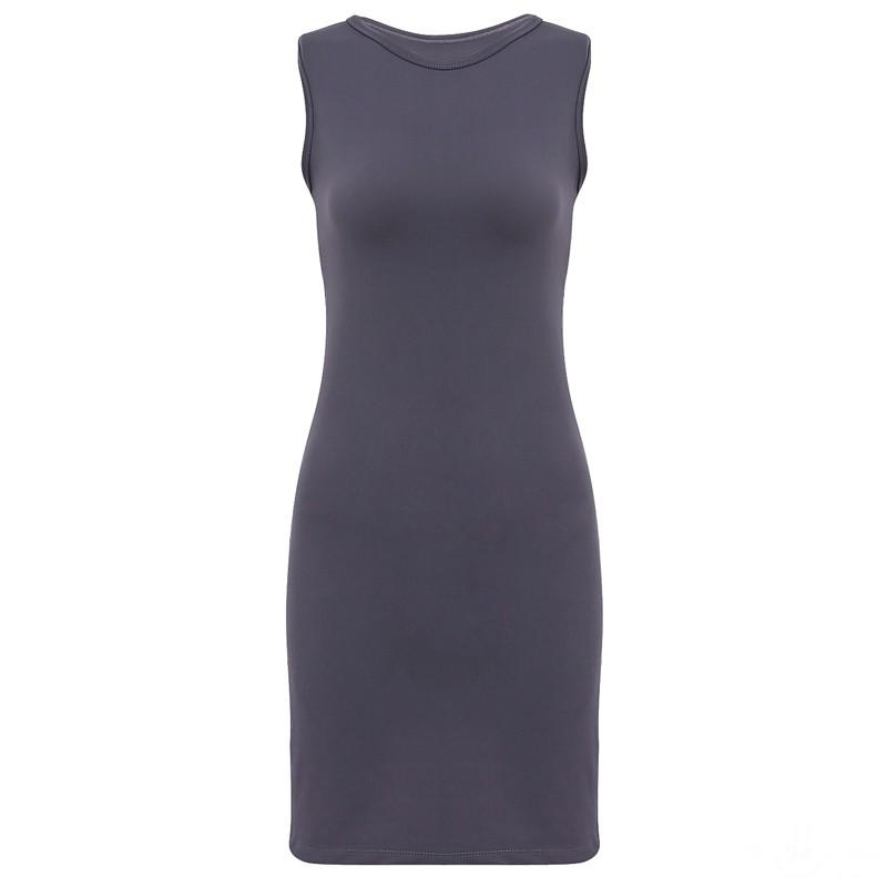 Váy Đầm Thun Dáng Ôm Cổ Tròn Thời Trang Vay 700015 CHA