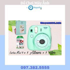 Combo Máy ảnh Fujifilm Instax mini 9 + 1 pack film + 1 Album