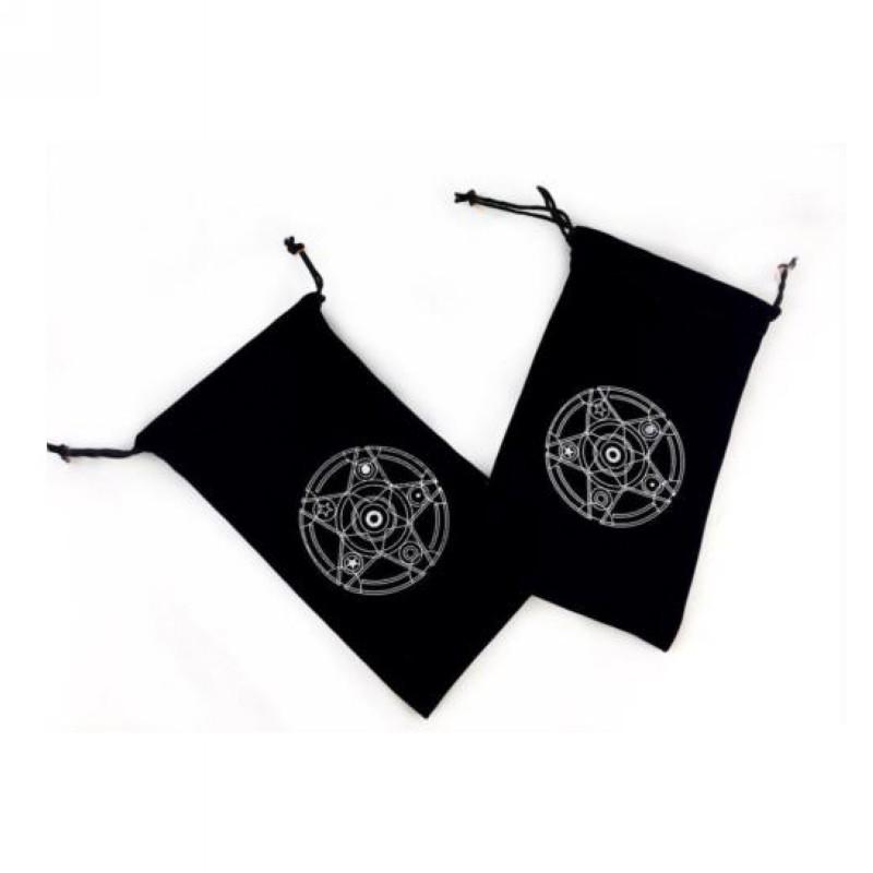 Túi vải nhung dây rút in họa tiết độc đáo đựng bài Tarot