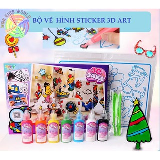Bộ dụng cụ tạo Sticker cho bé rèn luyện tính sáng tạo, lứa tuổi 5+ phát triển khả năng mỹ thuật 3D Sticky Art
