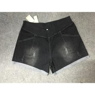 Quần đùi bầu jeans ống rộng QA5209
