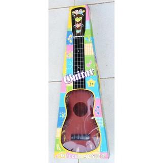 Đàn ghi-ta đồ chơi gảy phím không pin, dài 50cm, nhựa dầy tốt. Q216