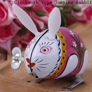 span-new craving 1Pc cute tin wind up clockwork toys jumping rabbit classic toy