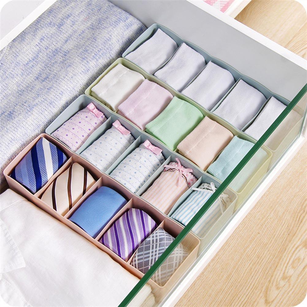 warm 5grids Socks Underwear Lingerie Organizer Cosmetic Home Daily Storage Cases