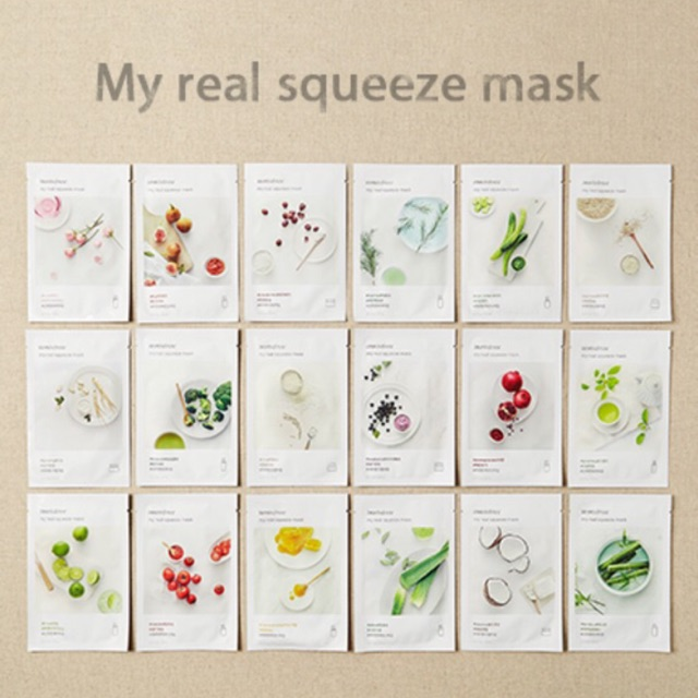 MẶT NẠ GIẤY INNISFREE MY REAL SQUEEZE MASK | Shopee Việt Nam