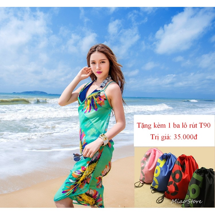 Khăn choàng sarong đi biển tặng kèm 1 balo rút T90 - 2909442 , 207147542 , 322_207147542 , 99000 , Khan-choang-sarong-di-bien-tang-kem-1-balo-rut-T90-322_207147542 , shopee.vn , Khăn choàng sarong đi biển tặng kèm 1 balo rút T90