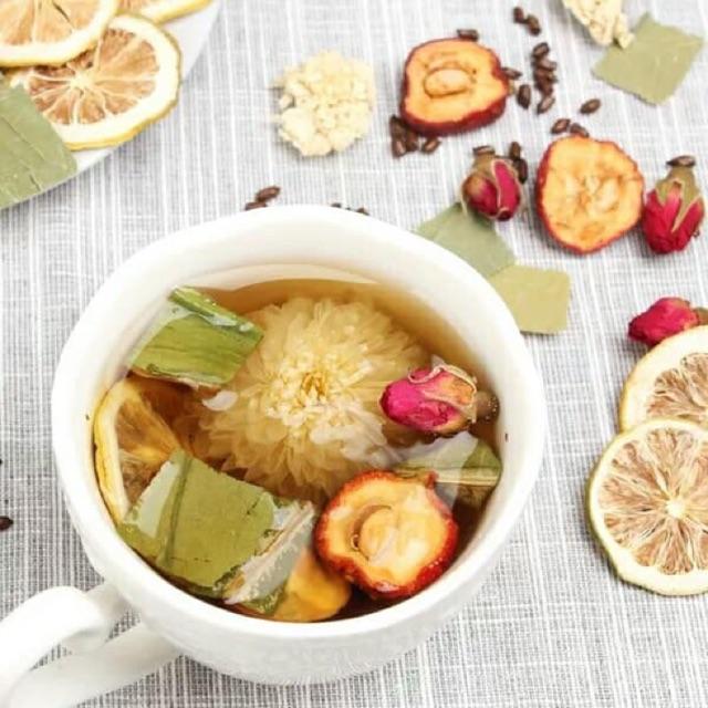 Detox trà hoa quả thảo mộc đặc biệt giảm cân tiêu mỡ, điều huyết