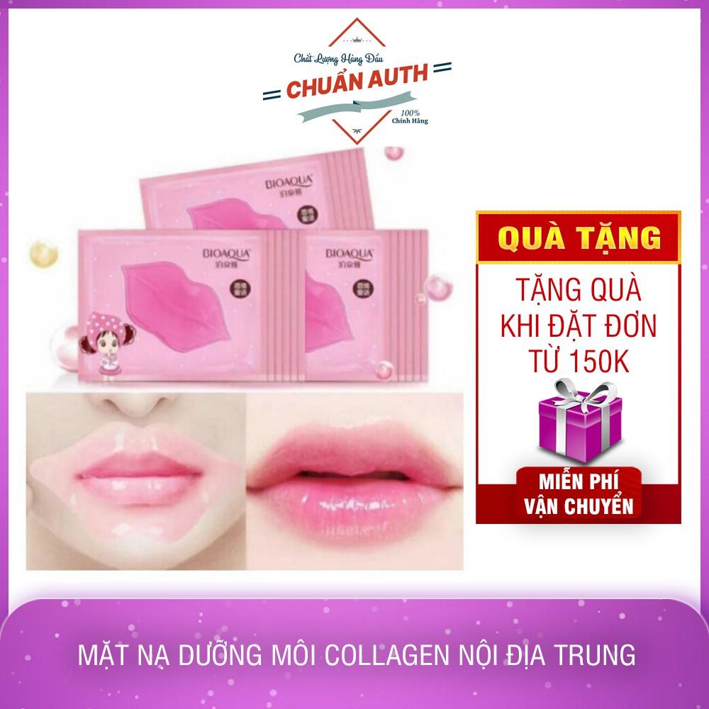 Mặt nạ dưỡng môi collagen nội địa Trung nhiều hãng trị thâm môi Giúp Môi Mềm Hồng Hào - T217