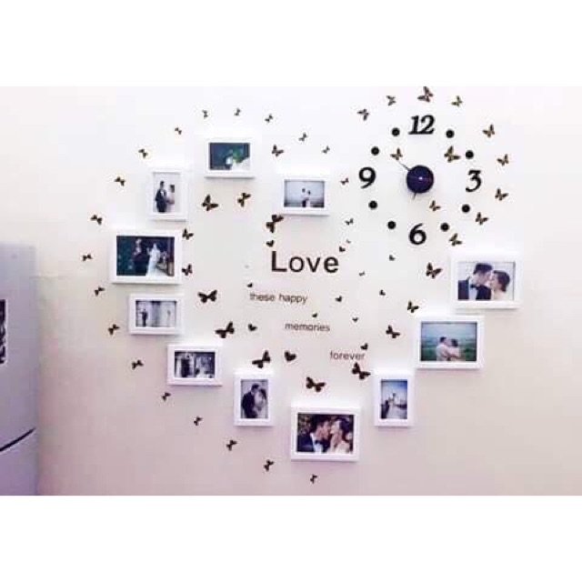Bộ khung ảnh kèm đồng hồ treo tường - 9963930 , 564187089 , 322_564187089 , 350000 , Bo-khung-anh-kem-dong-ho-treo-tuong-322_564187089 , shopee.vn , Bộ khung ảnh kèm đồng hồ treo tường