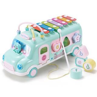 Đồ chơi xe ô tô bus thả hình khối kèm đàn cho bé