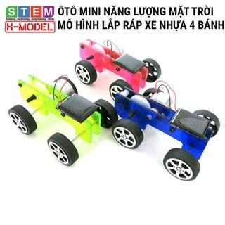 Đồ chơi sáng tạo STEM Ôtô mini nhựa năng lượng mặt trời X-MODEL , Đồ chơi trẻ em DIY [Do it You]  Giáo dục STEM, STEAM