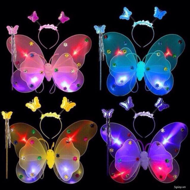 Set bộ cánh bướm chớp đèn cho bé