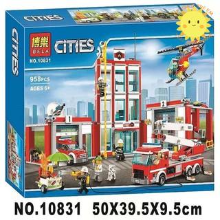 Lego City 60110 Đồn Cứu Hỏa Bela 10831 Fire Station