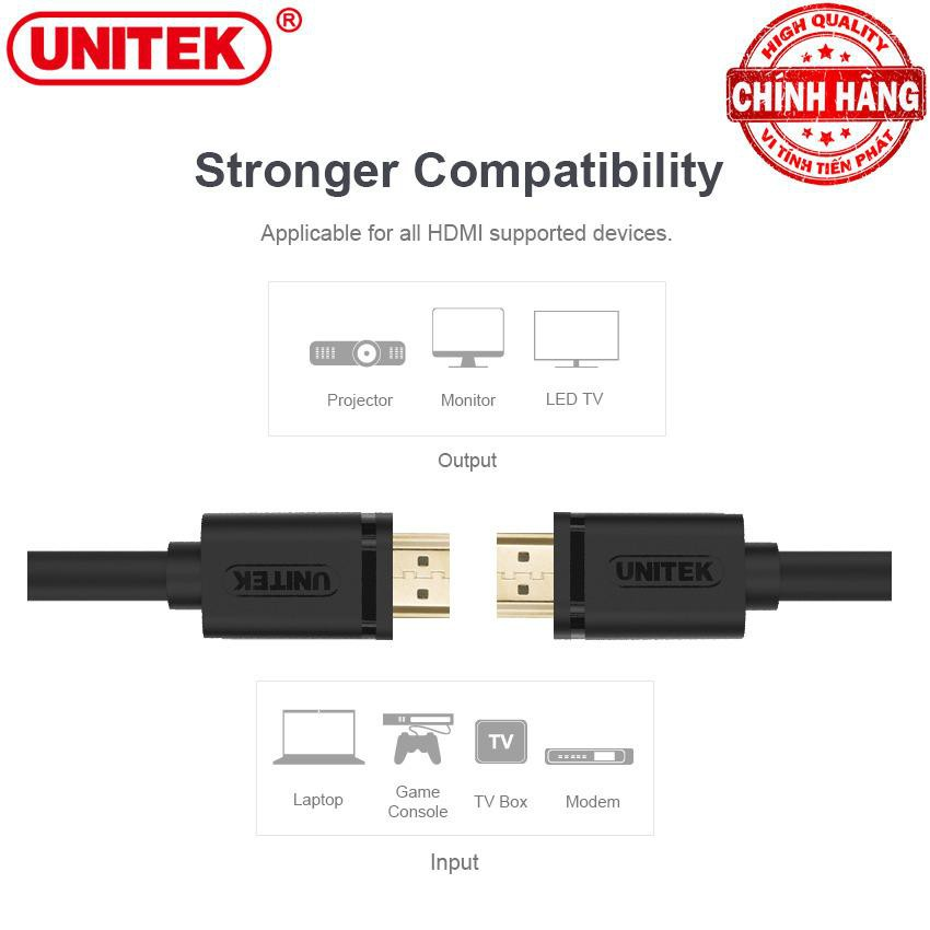 Cáp HDMI 4K Ultra HD và 3D Unitek Y-C137M dài 1,5m