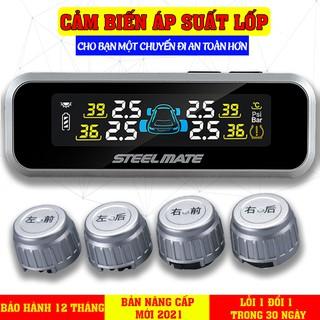 Cảm biến áp suất lốp van ngoài TPMS không dây pkCar365vn phân phối chính hãng STEELMATE có màn hình màu thumbnail