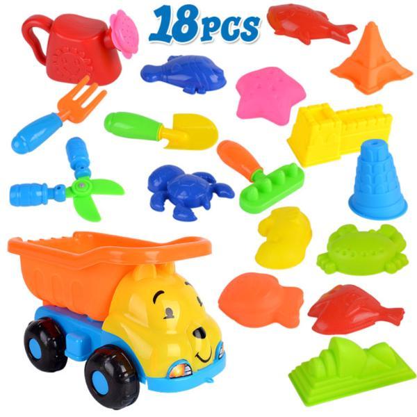 18Pcs/Set Beach Play Sand Dredging Tool Toys Set for Kids Baby