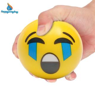 Kids Face Expression Squeeze Ball PU Hand Wrist Exercise Stress Relief Toys