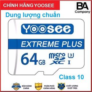 Thẻ Nhớ 64GB Yoosee Chính Hãng - Tốc Độ Cao Chuẩn Class10 1 Đổi 1 Trong 5 Năm thumbnail