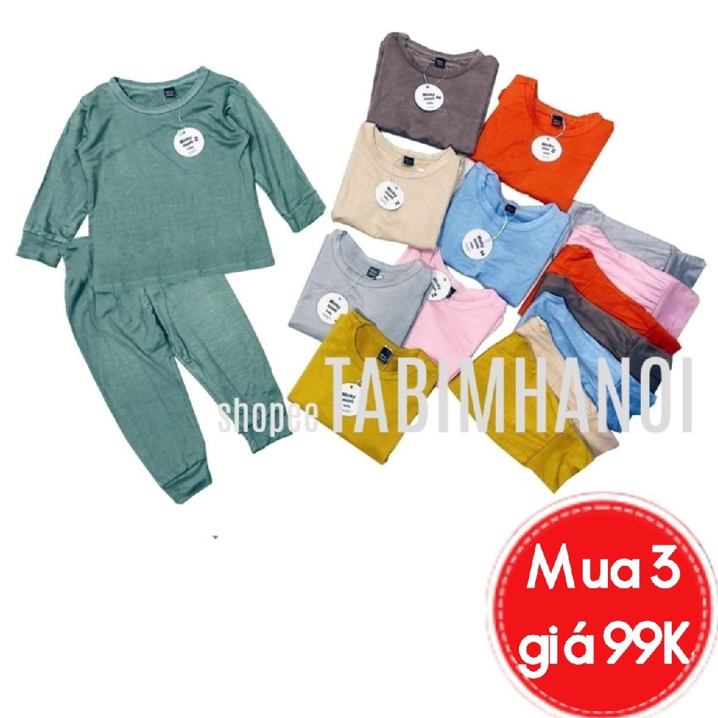 Bộ dài tay cotton thun lạnh , bộ quần áo trẻ em cho bé sơ sinh tới 16kg QATE564/568