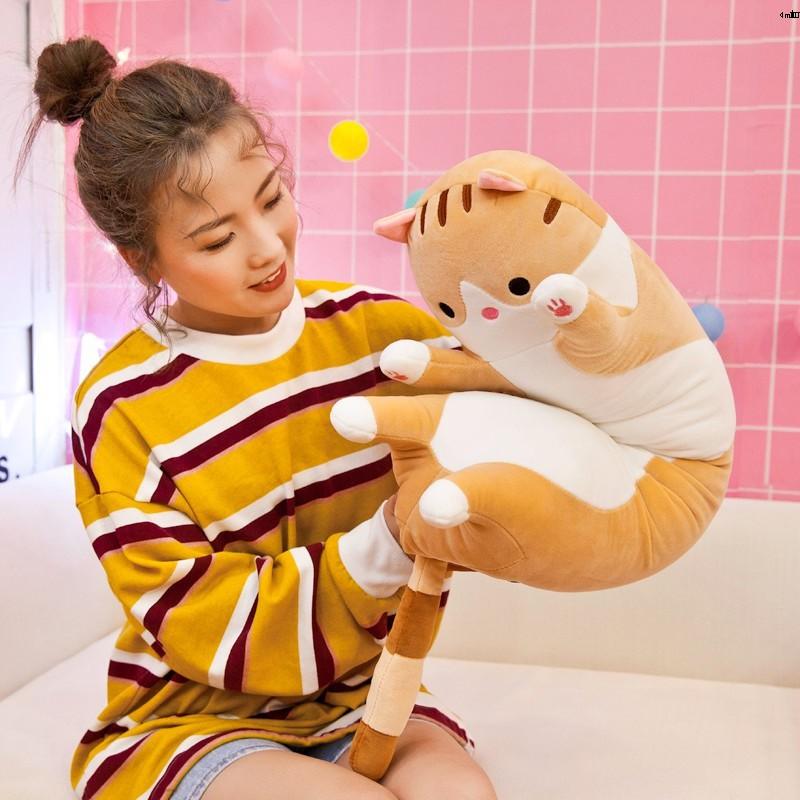 Dễ Thương Thú Nhồi Bông Hình Mèo Đáng Yêu Mềm Mại Có Thể Giặt Sạch Tiện Lợi