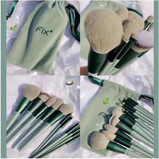 Bộ Cọ Trang Điểm cây FIX Xanh Pastel bao gồm túi đựng cọ thumbnail