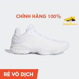 Giày Sneaker Bóng Rổ Nam Adidas Pro Bounce 2018 Low Fw0903 Triple White - Hàng Chính Hãng - Bounty Sneakers thumbnail