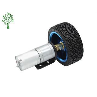 Combo Động cơ giảm tốc + Bánh xe + Giá đỡ làm robot cơ bản