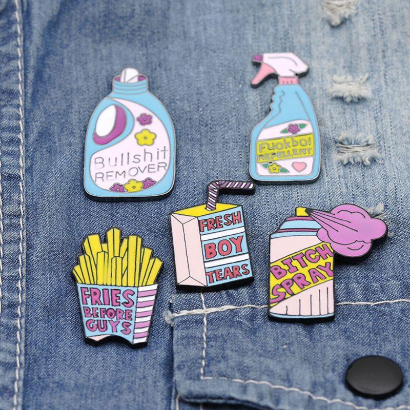 Bộ pin cài áo/ túi xách hình hoạt hình dễ thương.