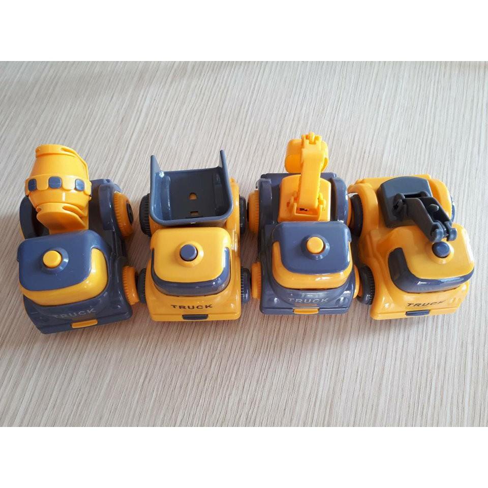 Set 4 ô tô mô hình xây dựng - Hàng nhập khẩu chính hãng