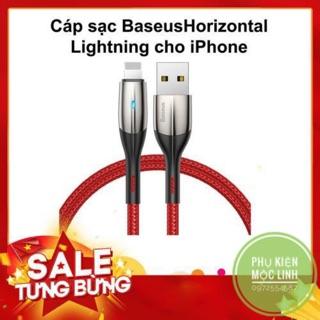 [1m và 2m] Cáp sạc và truyền dữ liệu tốc độ cao Baseus Horizontal Data Lightning cho iPhone iPad 2.4A