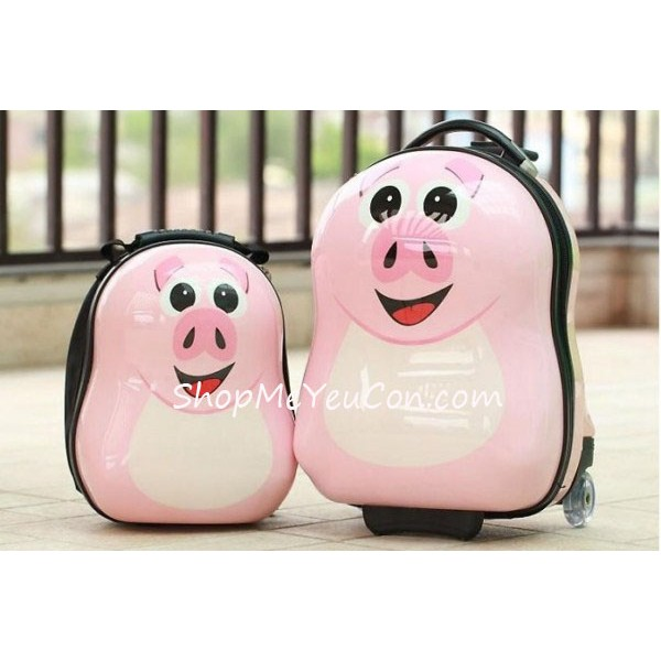 Bộ vali kéo + balo đeo Cuties