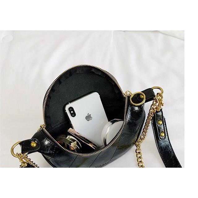 Túi xách nữ đeo chéo khóa tròn sang trọng - Mã T241