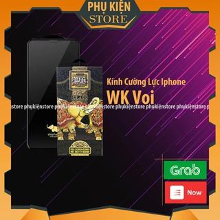Kính Cường Lực iPhone Chống Vỡ Cạnh WK Con Voi Phiên Bản Nâng Cấp - Chống Dấu Vân Tay - Cảm Ứng Mượt thumbnail
