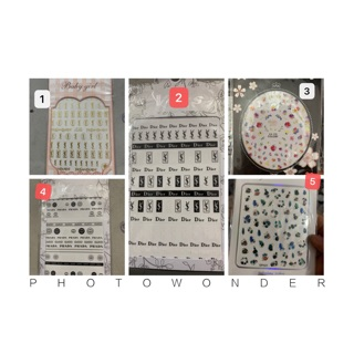 sticker trang trí móng siêu rẻ - carton nail thumbnail