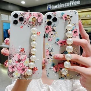 Ốp Lưng Tpu Họa Tiết Hoa Vintage Có Dây Đeo Tay Cho Samsung Galaxy A70 A50S A30S A10 S9Plus S8 + thumbnail