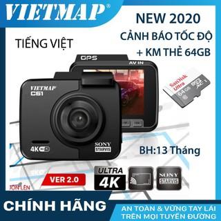Camera hành trình VIETMAP C61 phiên bản mới 2.0 kèm thẻ nhớ 32/64GB Class 10