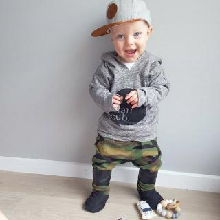 ☆fy☆2018 New Fashion Toddler Baby Boys Hoodie Long Tops Camouflage Pants 2Pcs Outfits Set Clothes