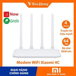 Modem WiFi Xiaomi 4C 4 Râu Router R4CM – BH 1 năm – Phát xuyên tường bảo mật truyền tín hiệu mạng mạnh internet ăng ten