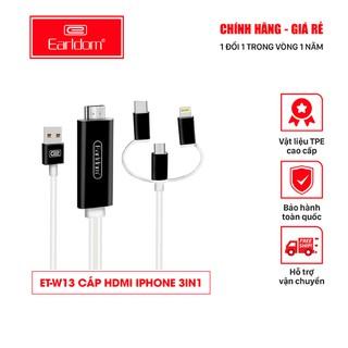 Cáp HDMI 3in1 Earldom W13 ( Độ Phân Giải 4K, Tích Hợp 3 Đầu Lightning, Micro, TypeC )