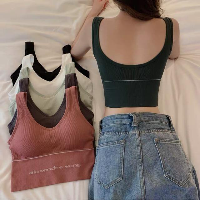 Áo bra gym yoga bra thể thao dáng crotop hàng xịn giá rẻ alaxendre weng