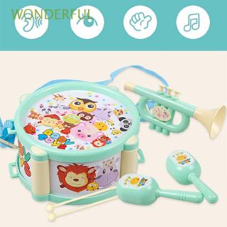 WONDERFUL 6pcs/set Cartoon Playing Early Educational Baby Gift Hand Grasp Bell Drum Toys