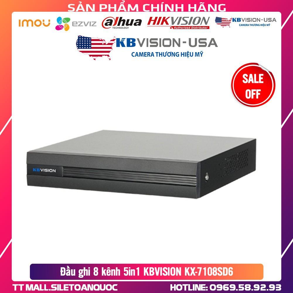 .  Đầu ghi 8 kênh 5in1 KBVISION KX-7108SD6 - Hàng Chính Hãng .