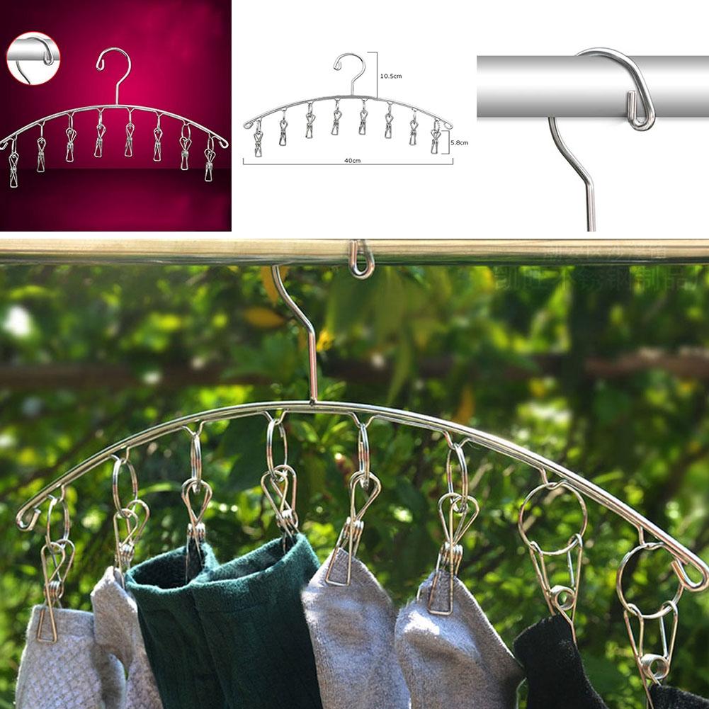 Socks Dryer Stainless Steel Hanger Indoor Hanging Rack In/outdoor 8 Pegs