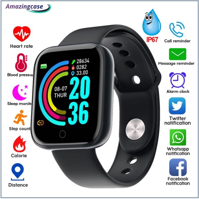 Đồng Hồ Thông Minh Y68 Chống Nước Kết Nối Bluetooth Cho Iphone Xiaomi