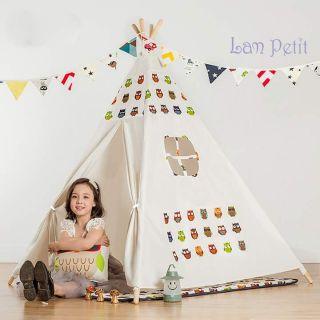 Lều vải handmade Lam Petit – mẫu cú có túi bên hông (có video)
