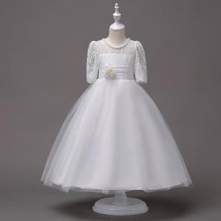 Đầm công chúa tay phối ren đáng yêu cho bé gái